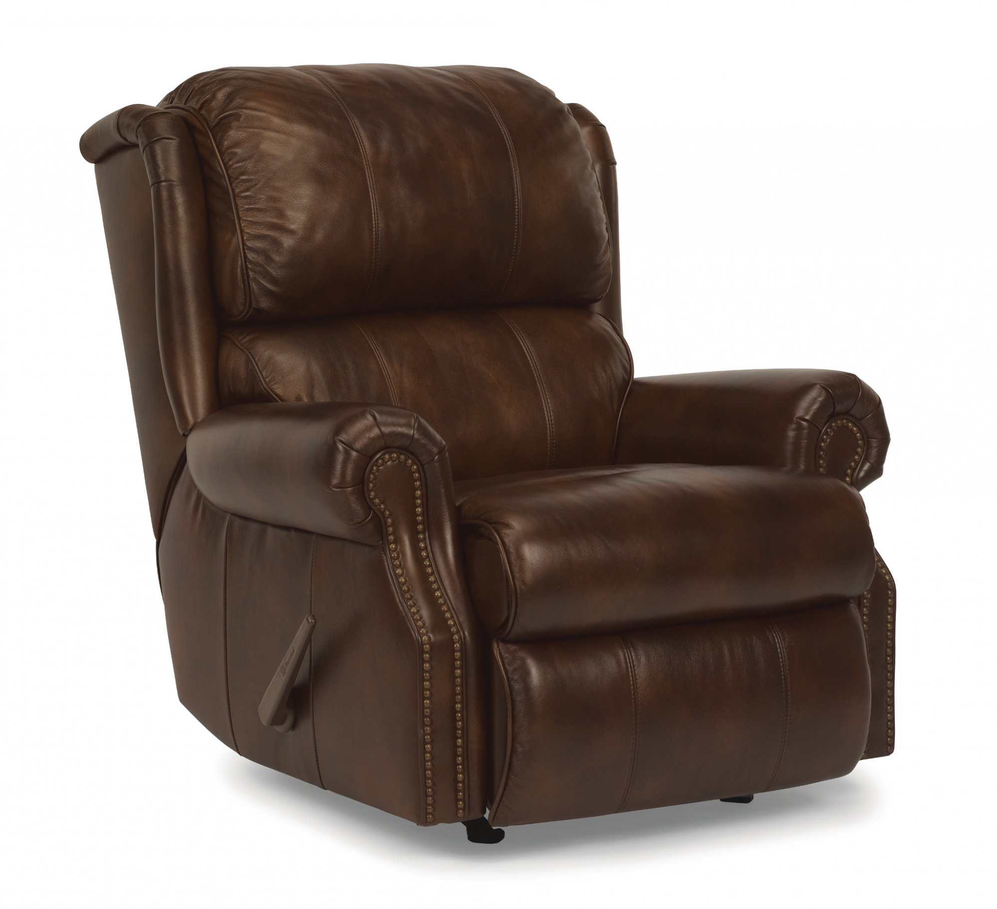 Comfort Zone Extra Padded Leather Rocking Recliner