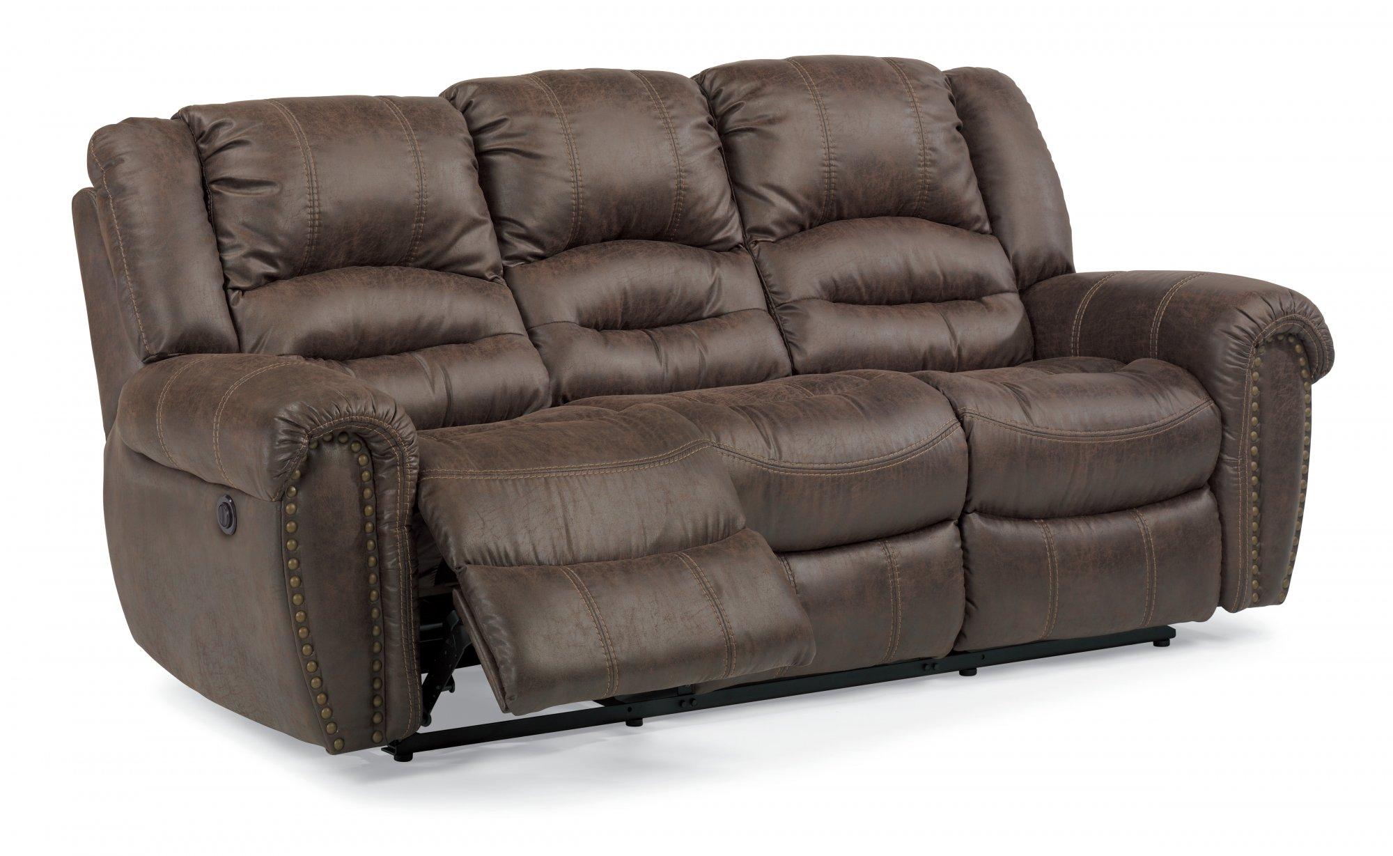Downtown Fabric Power Reclining Sofa W Padded Arms