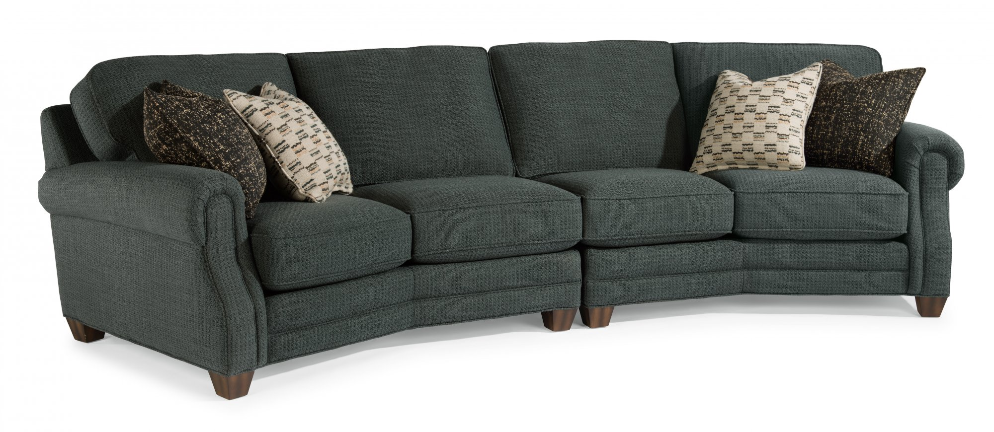 Lovely Curved Conversation Sofas Ezhandui Com