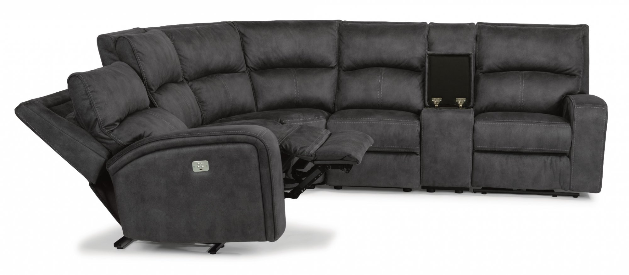Awesome Rhapsody Power Reclining Fabric Sectional Flexsteel Inzonedesignstudio Interior Chair Design Inzonedesignstudiocom