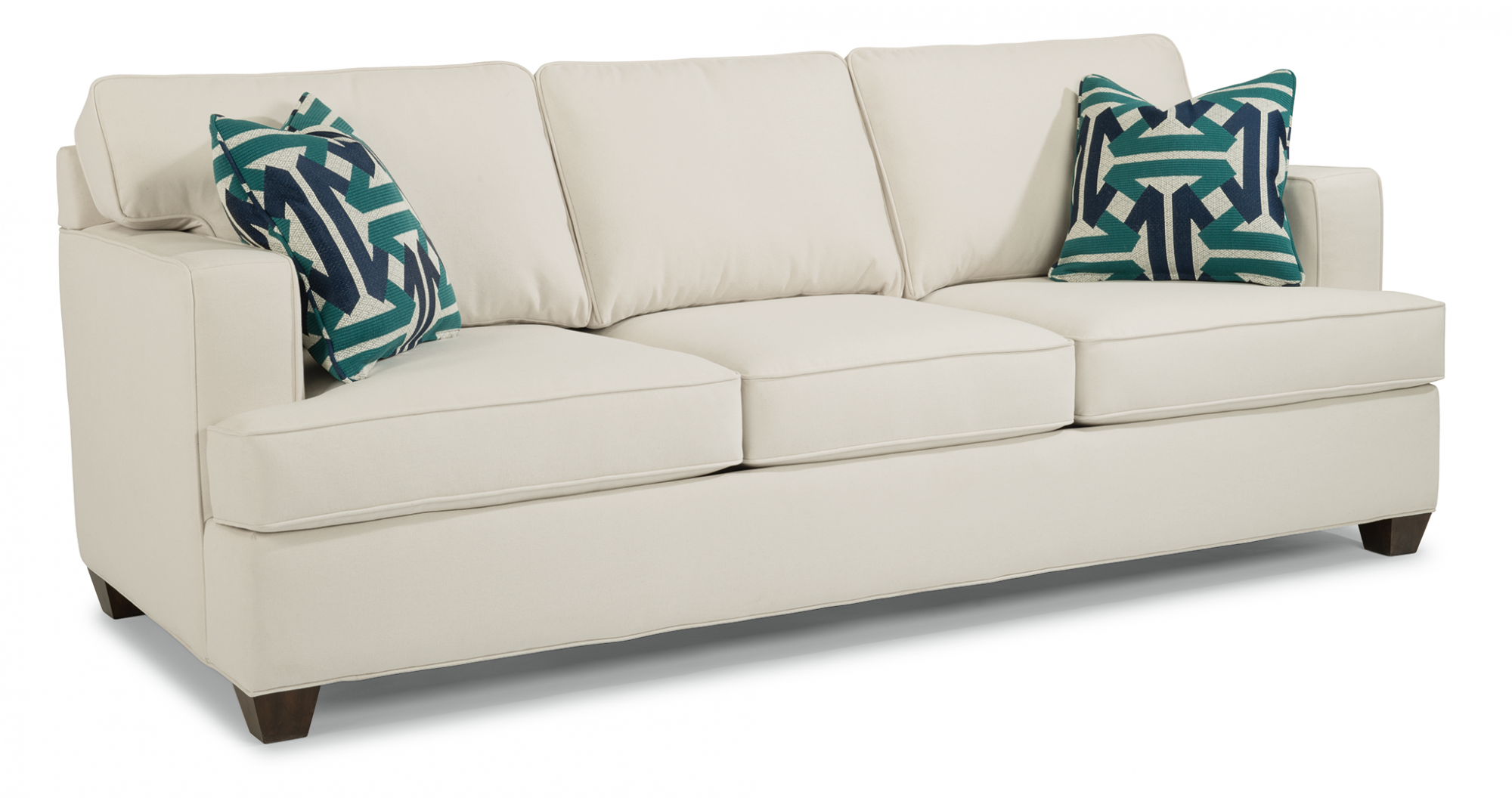 Pierce 3 Cushion Fabric Sofa W Overstuffed Cushions Flexsteel