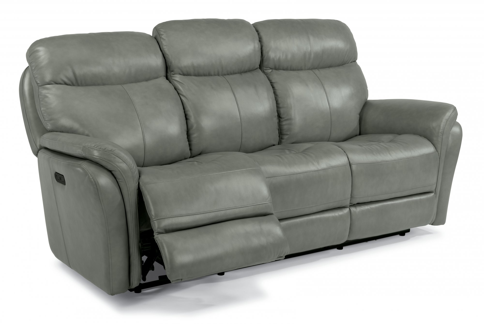 Leather Power Reclining Sofa with Power Headrests  sc 1 st  Flexsteel : leather couch with recliners - islam-shia.org